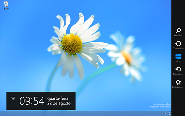 charms e tela inicial windows 8