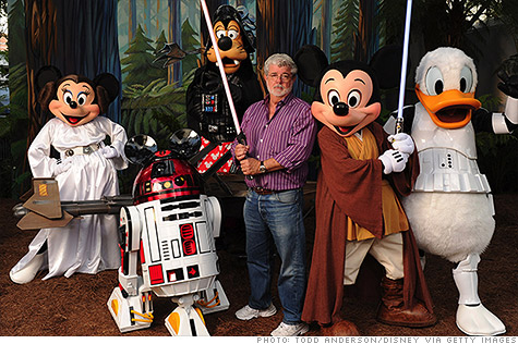 mashup star wars x disney com george lucas