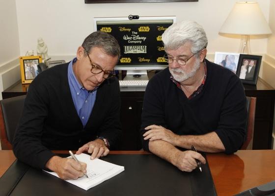 assinatura contrato venda lucasfilm para disney